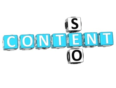 3D Seo Content Crossword on white background