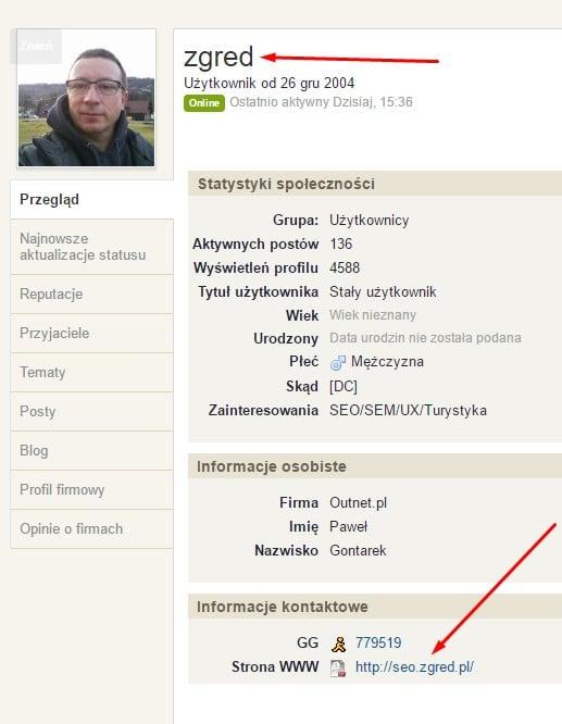 linkbudiling za pomocą profili z for
