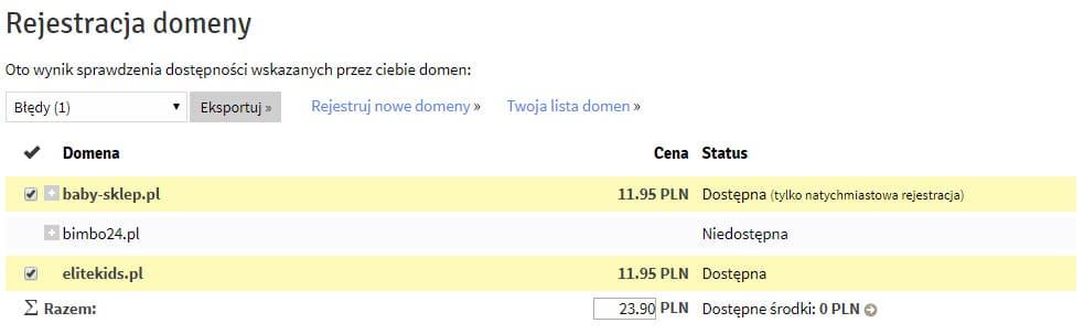 rejestracja domen