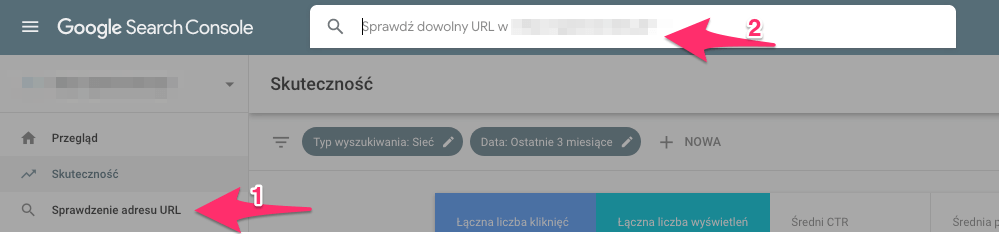 indeksowanie adresu url w Search Console